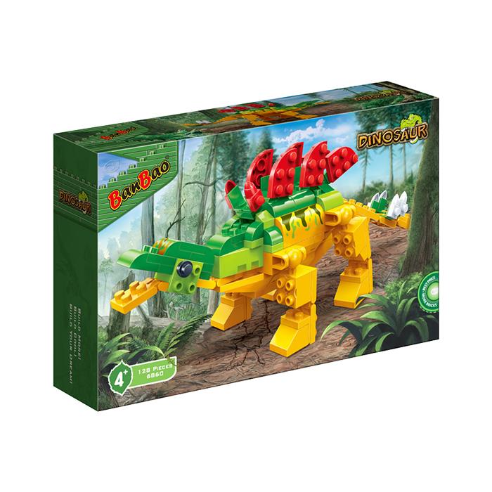 侏羅紀系列 NO.6860裝甲劍龍 電影 恐龍(與樂高Lego相容)【BanBao邦寶積木楚崴】