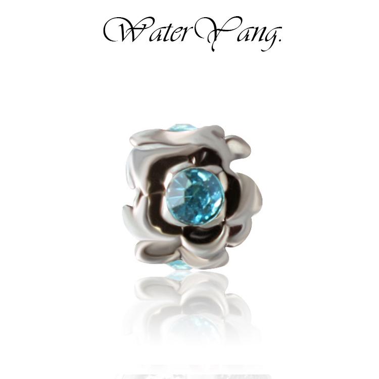 WaterYang.× 藍鑽-梅花 潘朵拉風格串飾