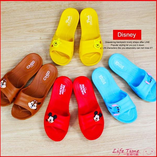 迪士尼米奇小熊維尼史迪奇奇奇正版防滑浴室拖鞋室內拖鞋女鞋療癒拖鞋B21620