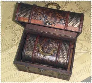 古典復古木質小收納箱大碼三件套拍攝道具