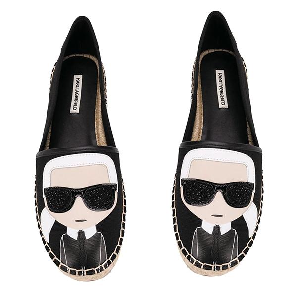 Karl Lagerfeld鞋  KAMINI Q版草編鞋-黑