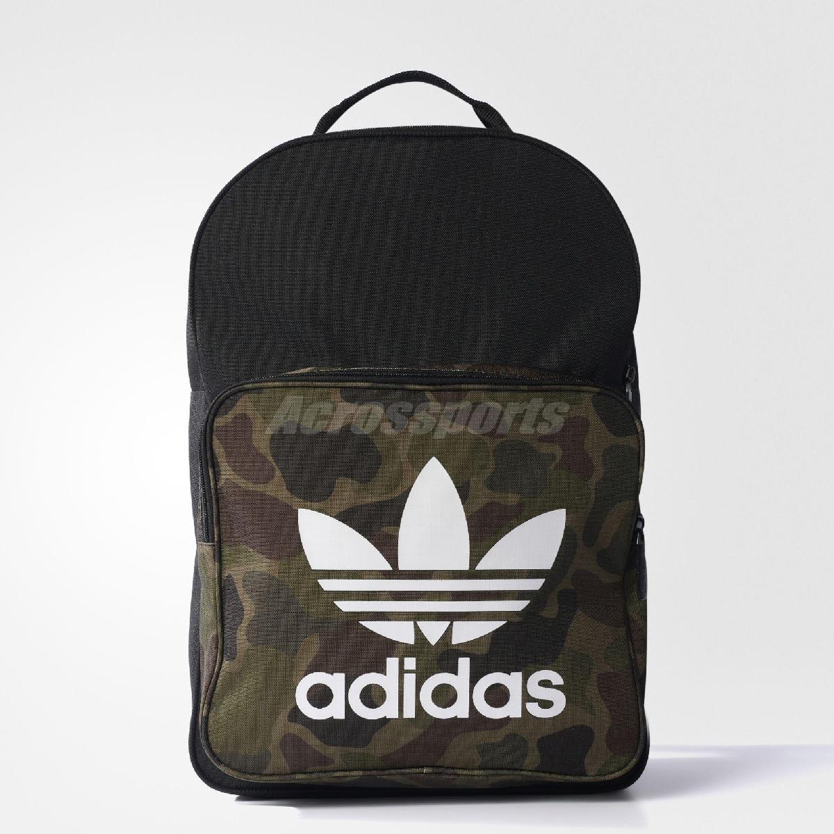 愛迪達adidas Classic Camouflage Backpack黑白迷彩三葉草雙肩後背包PUMP306 BK7214