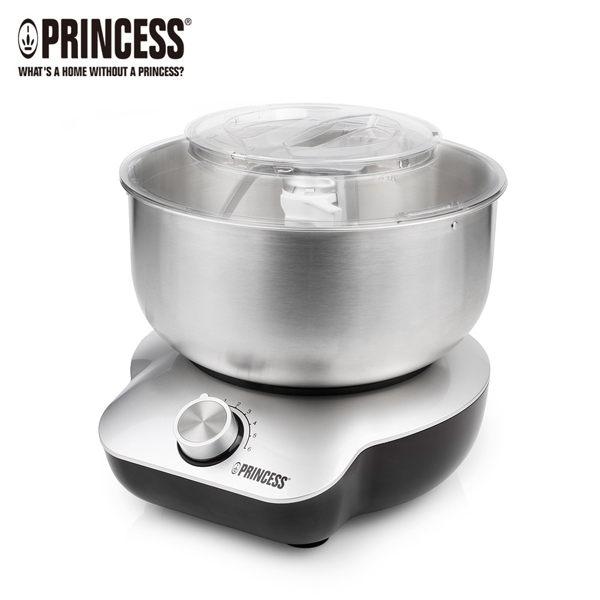荷蘭公主220129 Princess現貨贈AWANA燜燒罐打發蛋白奶油首選4L不鏽鋼全能攪拌機揉麵糰機
