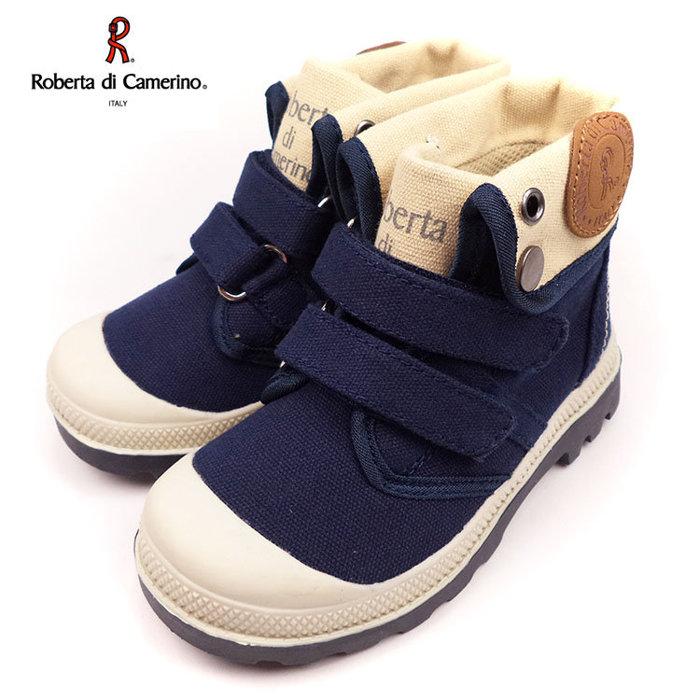 童靴義大利諾貝達Roberta英倫軍靴風中低統兩用靴藍25-34號~EMMA商城
