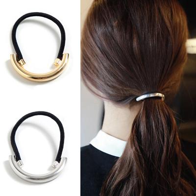 髮圈韓版合金金屬圓環半圓彈性髮圈髮飾03U0252