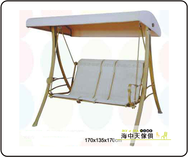 海中天休閒傢俱廣場B-68戶外休閒搖椅吊籃系列691-4雙人米色鞦韆