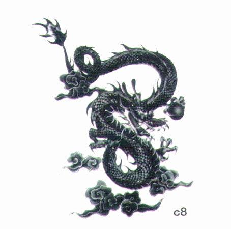 薇嘉雅 龍 超炫圖案紋身貼紙 c8