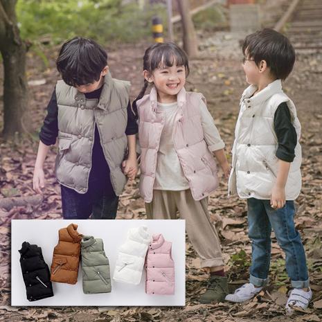雙排扣羽絨棉背心中性款夾克外套橘魔法Baby magic現貨兒童童裝女童男童兒童薄外套