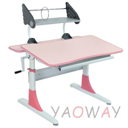 耀偉費蕾雅成長桌粉色系粉紅美耐板面-100桌寬全能桌升降桌兒童成長桌書桌課桌