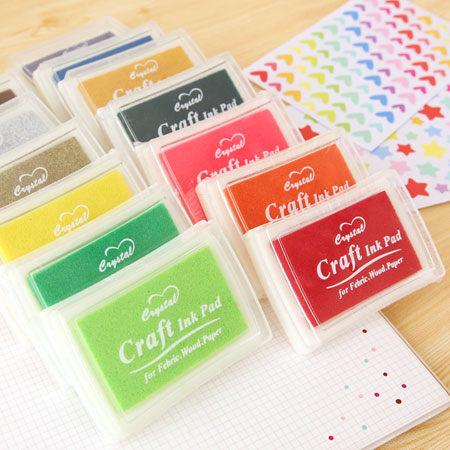 彩色印泥 (15色可挑色) 油性防水彩色印泥 印泥盒