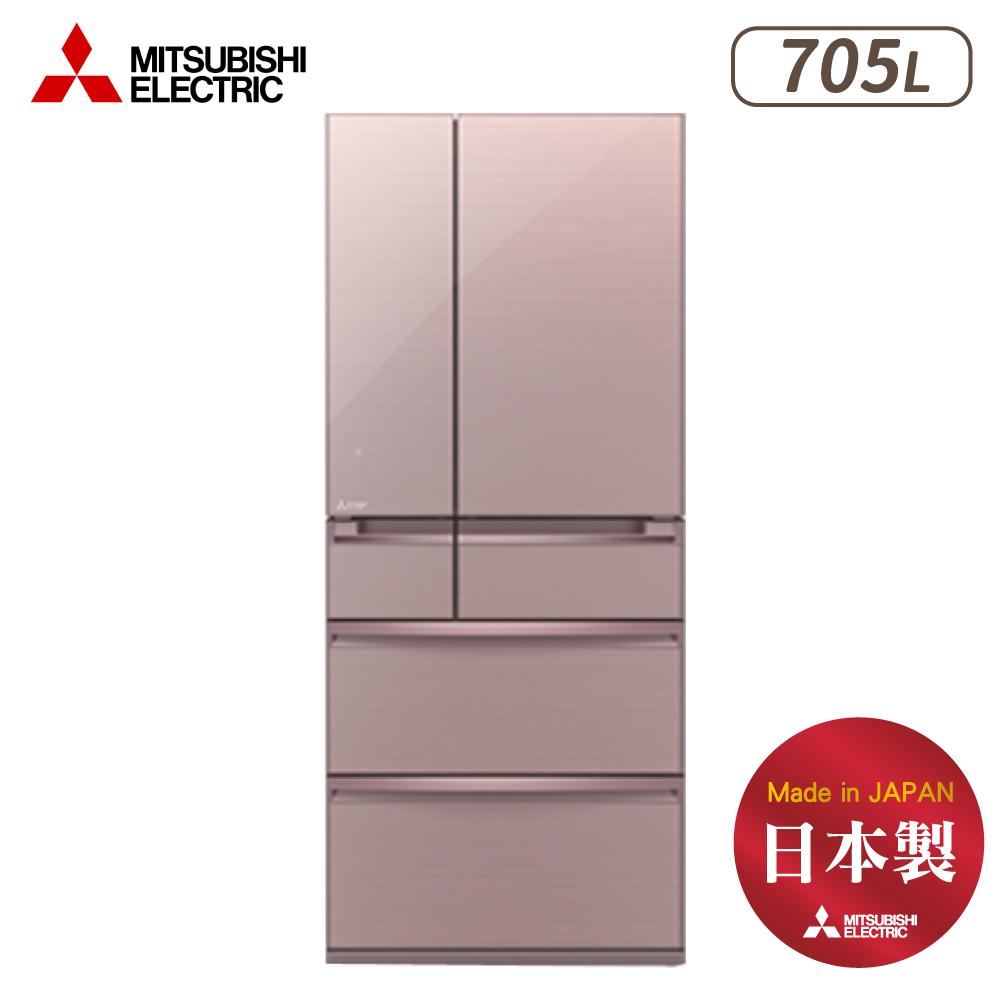MITSUBISHI三菱 705L 變頻6門電冰箱 MR-WX71Y-P 水晶粉