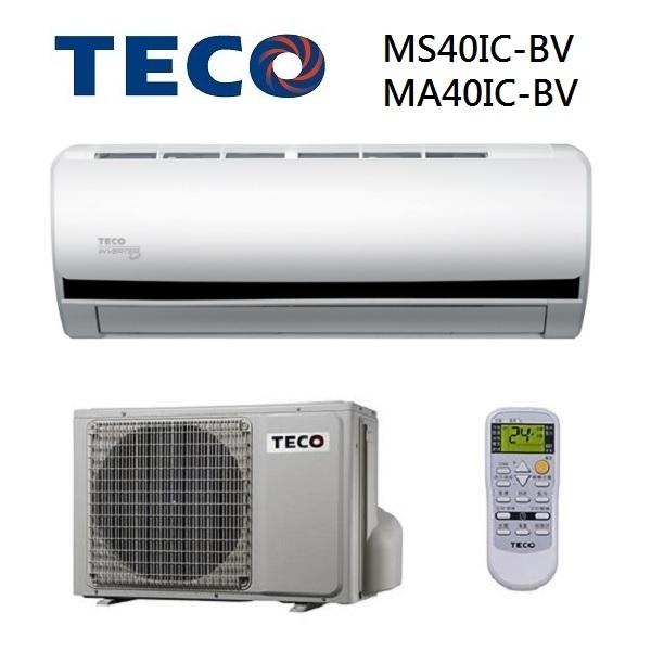 免運費0利率TECO東元MS40IC-BV MA40IC-BV約6坪CSPF一對一變頻單冷分離式冷氣南霸天電器百貨