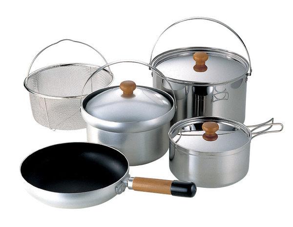 Uniflame Fan 5 DX不鏽鋼鋁合金鍋組5人份660232居家露營炊事