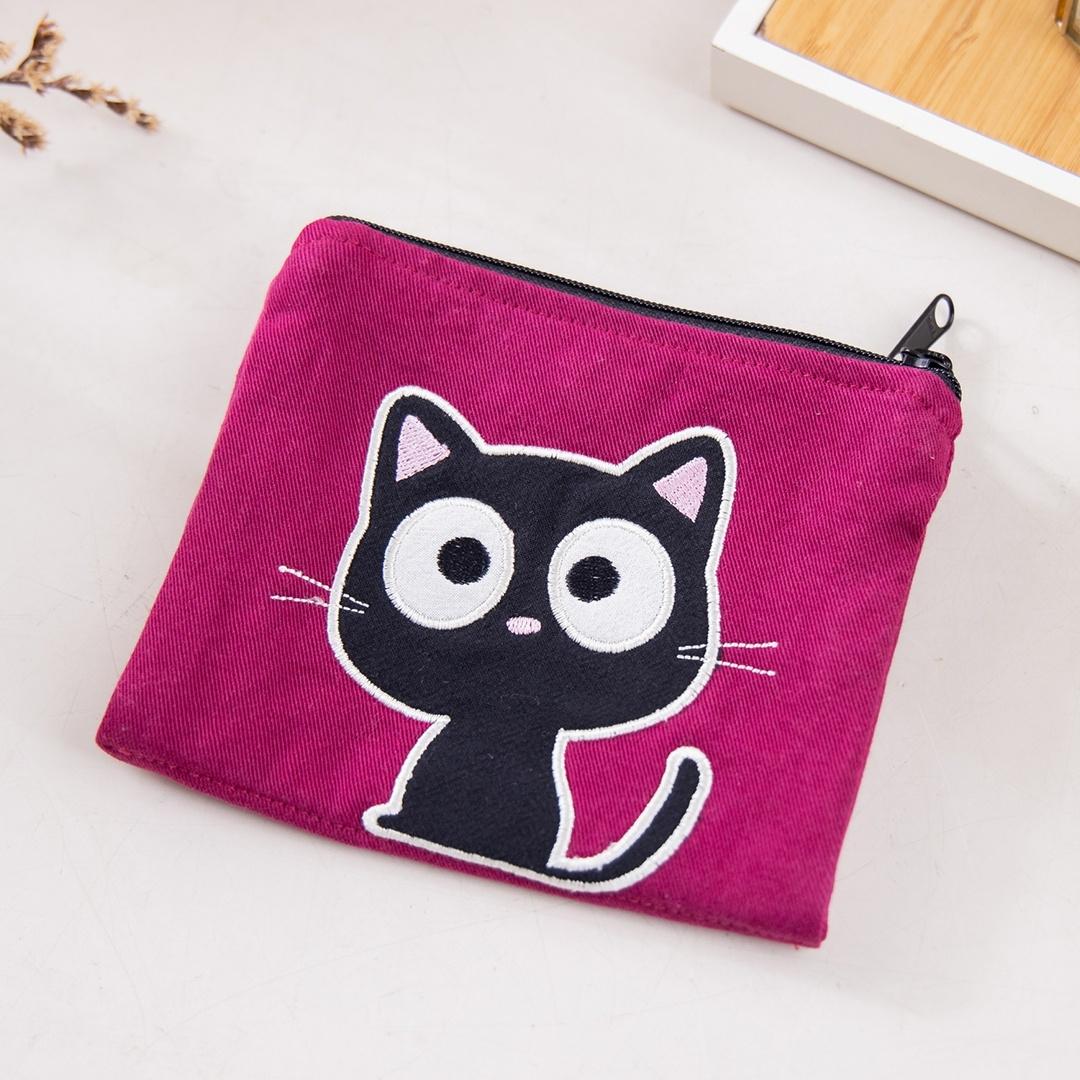 Kiro貓‧小黑貓 雙層 零錢包/面紙/衛生棉/口罩收納包【820168078】