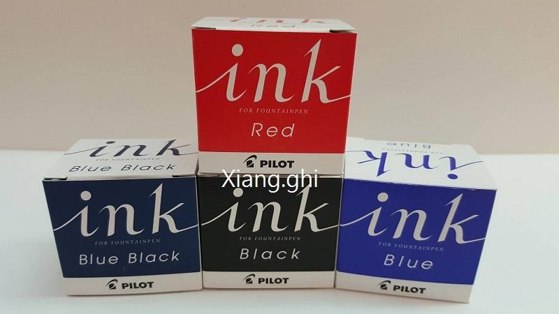 百樂Pilot-日本原裝-墨水-INK-30-30ml/瓶 (黑色-紅色-藍色-藍黑色)