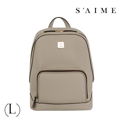 S aime東京企劃【SBG28-A012L】Gill吉兒 方塊中性多功能後背包(L) 肩背 手提 多用 灰色