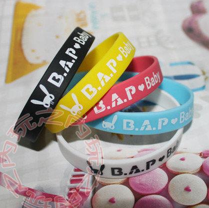 (不挑色)BAP B.A.P 彩色矽膠手圈 應援手圈手環 E465-B【玩之內】韓國 韓團