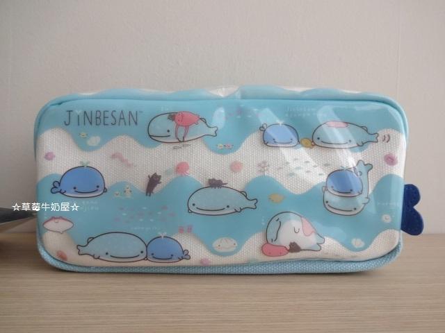 ☆草莓牛奶屋☆日本進口SAN-X【小鯊魚金平先生Jinbesan】可愛筆袋