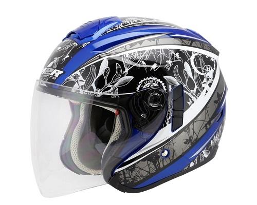 東門城M2R FR-1 2古典款藍銀3 4罩安全帽