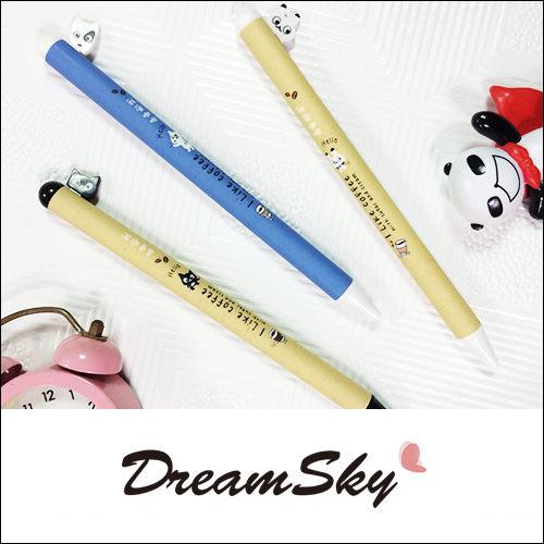 萌 動物 按壓 中性筆 原子筆 筆 圓珠筆 辦公室 書寫 寫字 創意 文具 DreamSky