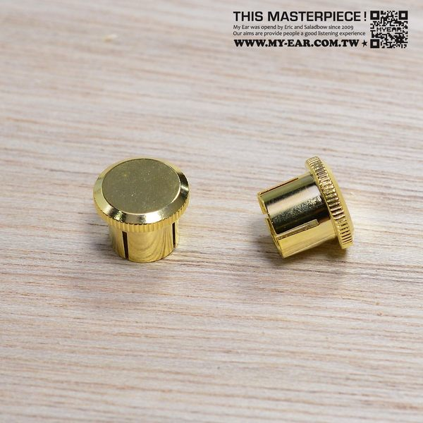 RCA金屬端子保護蓋純銅鍍金Gold Caps排除干擾音質提升一組2顆My Ear台中耳機專賣店
