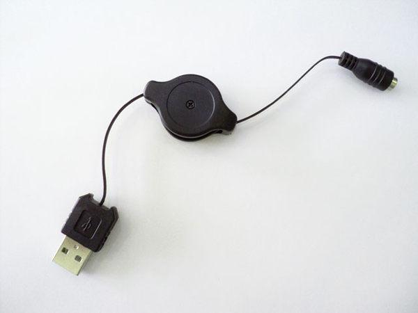 雙拉USB電源轉接線多用途更換接頭行動電源USB充電線手機充電伸縮線延長線