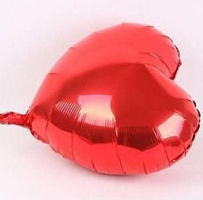愛心10吋鋁箔氣球-紅色(未充氣)~~求婚道具/婚禮 生日 耶誕節 尾牙佈置
