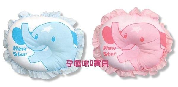 台灣製聖哥NEW STAR加大荷葉邊圓枕凹形設計純棉表布3571B