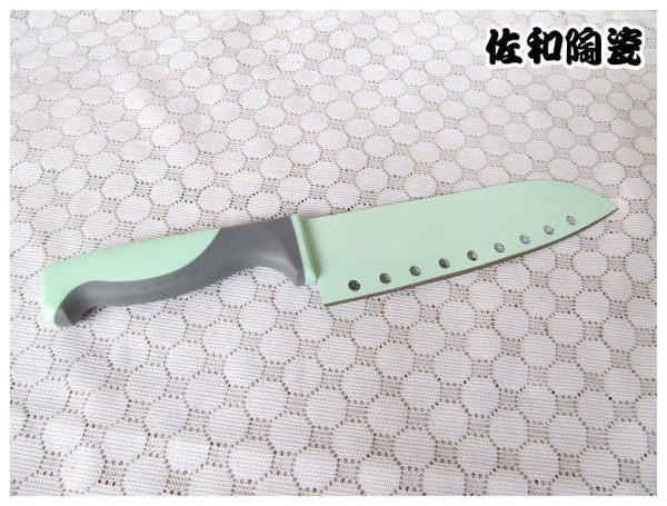 佐和陶瓷餐具~時尚料理刀粉綠38A2042