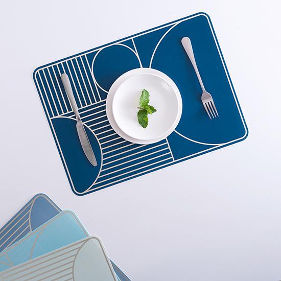 MY COLOR簡約幾何防水餐桌墊居家廚房衛生防潮鋪墊桌墊防熱墊創意N343