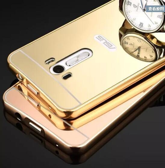 【SZ14】YY 華碩 zenfone 2 5.5 手機殼 電鍍框 鏡面背板 手機殼 asus zenfone selfie ZD551KL手機殼
