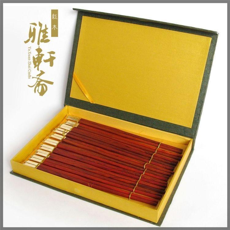 [超豐國際]雅軒齋家用紅木筷子 紅酸枝木質實木筷 天然原木無1入
