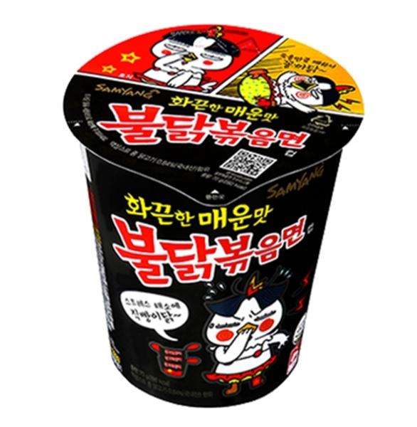 韓國三養火辣雞肉風味炒麵-杯麵(70g) 2014全球最辣泡麵TOP2