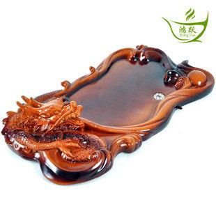 陶瓷浮雕龍茶盤
