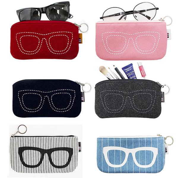 韓國旅行創意太陽鏡袋墨鏡袋子眼睛袋眼鏡袋收納包男女眼睛盒預購CH1846