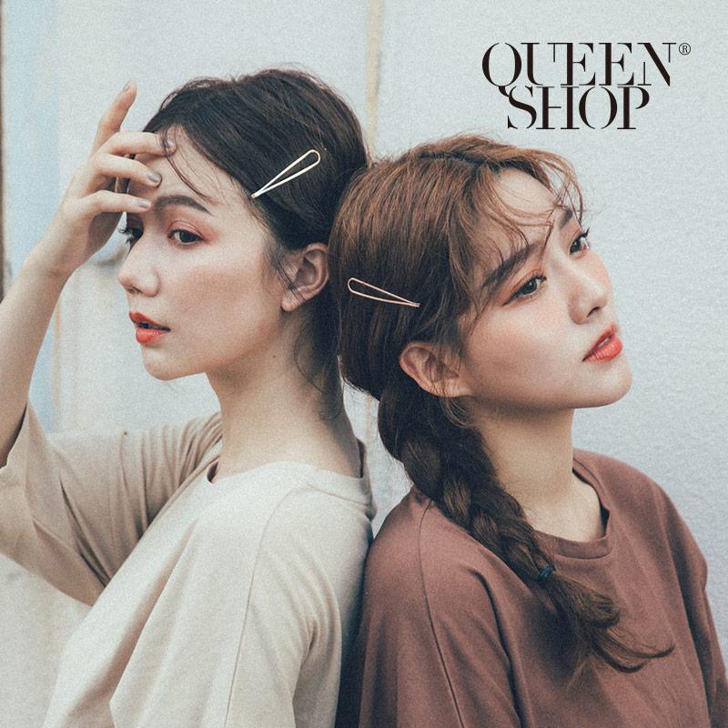 Queen Shop【07090229】金屬波浪幾何髮夾組*現+預*