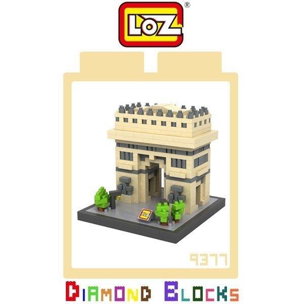 LOZ 迷你鑽石小積木 凱旋門  樂高式 益智玩具 組合玩具 原廠正版 世界建築系列