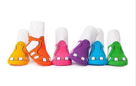 Trumpette襪子彌月禮涼鞋圖案女童短襪附原廠紙盒包裝盒