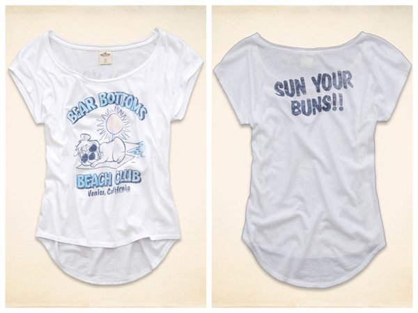 (BJGO) Hollister _女裝_THROWBACK GRAPHIC T-SHIRT 限量版復古圓領T恤/官網限定 2014 新品現貨S號
