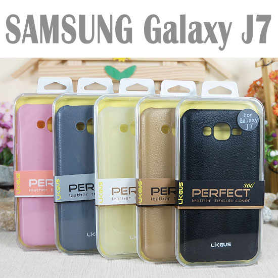 0.7mm三星SAMSUNG Galaxy J7 J700F J7008觸感皮革保護殼防護軟殼手機背蓋手機殼外殼TPU