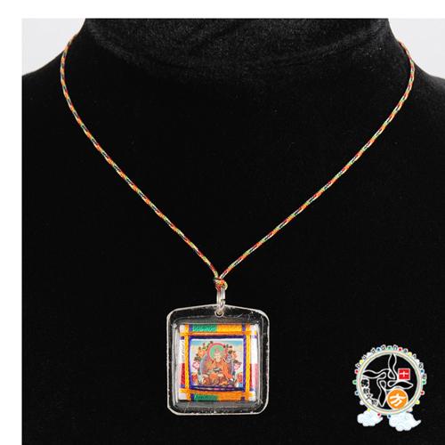 蓮花生大士護身五色線項鍊平安小佛卡十方佛教文物