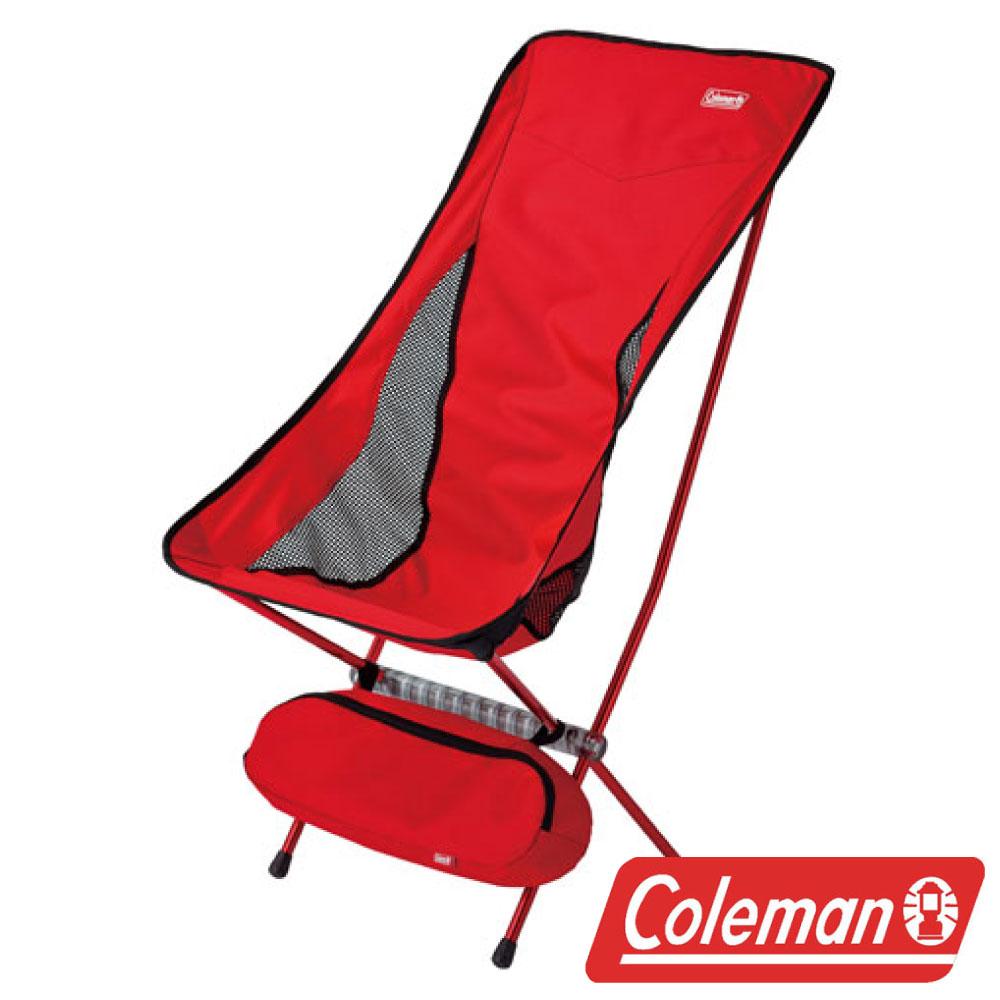 Coleman LEAF高背椅紅超輕鋁合金折疊月亮椅摺疊椅休閒椅折疊椅折合椅CM-26742