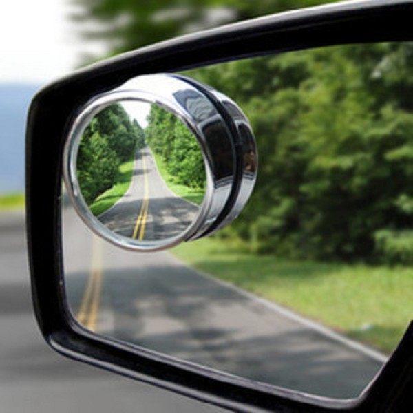 汽車 盲點鏡 廣角鏡 後視鏡 倒車鏡 可調節 360度 凸面 小圓鏡 2入裝【4G手機】