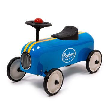 法國Baghera Ride-on Racer經典賽車嚕嚕車學步車禮盒版藍色