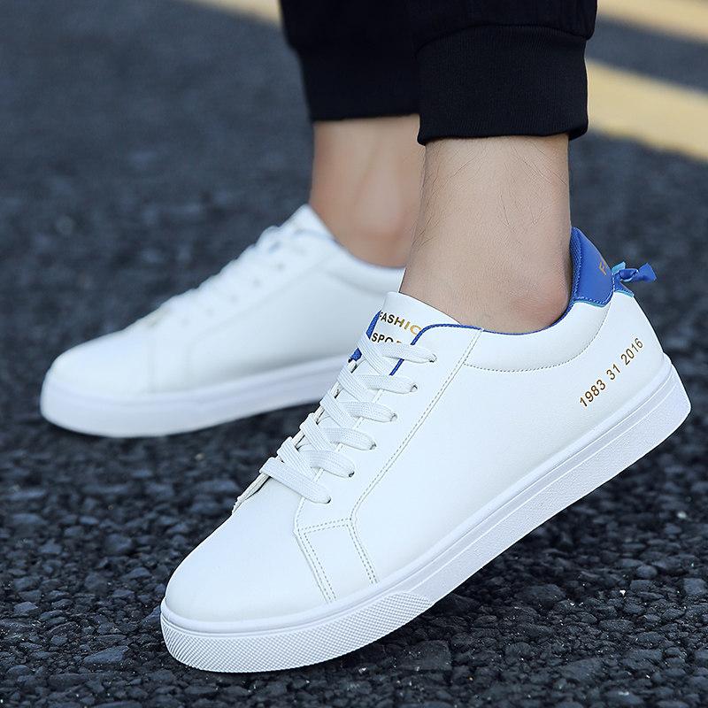 白色鞋平底小白鞋青年男鞋運動休閒鞋ღ部落男裝ღ