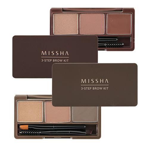 韓國MISSHA三部曲眉粉盤5.5g深棕紅棕BG Shop 2色供選