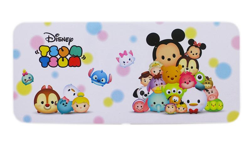 卡漫城Tsum鐵筆盒粉色版鉛筆盒米奇史迪奇瑪莉貓單層馬口鐵製Q版迪士尼Disney日版