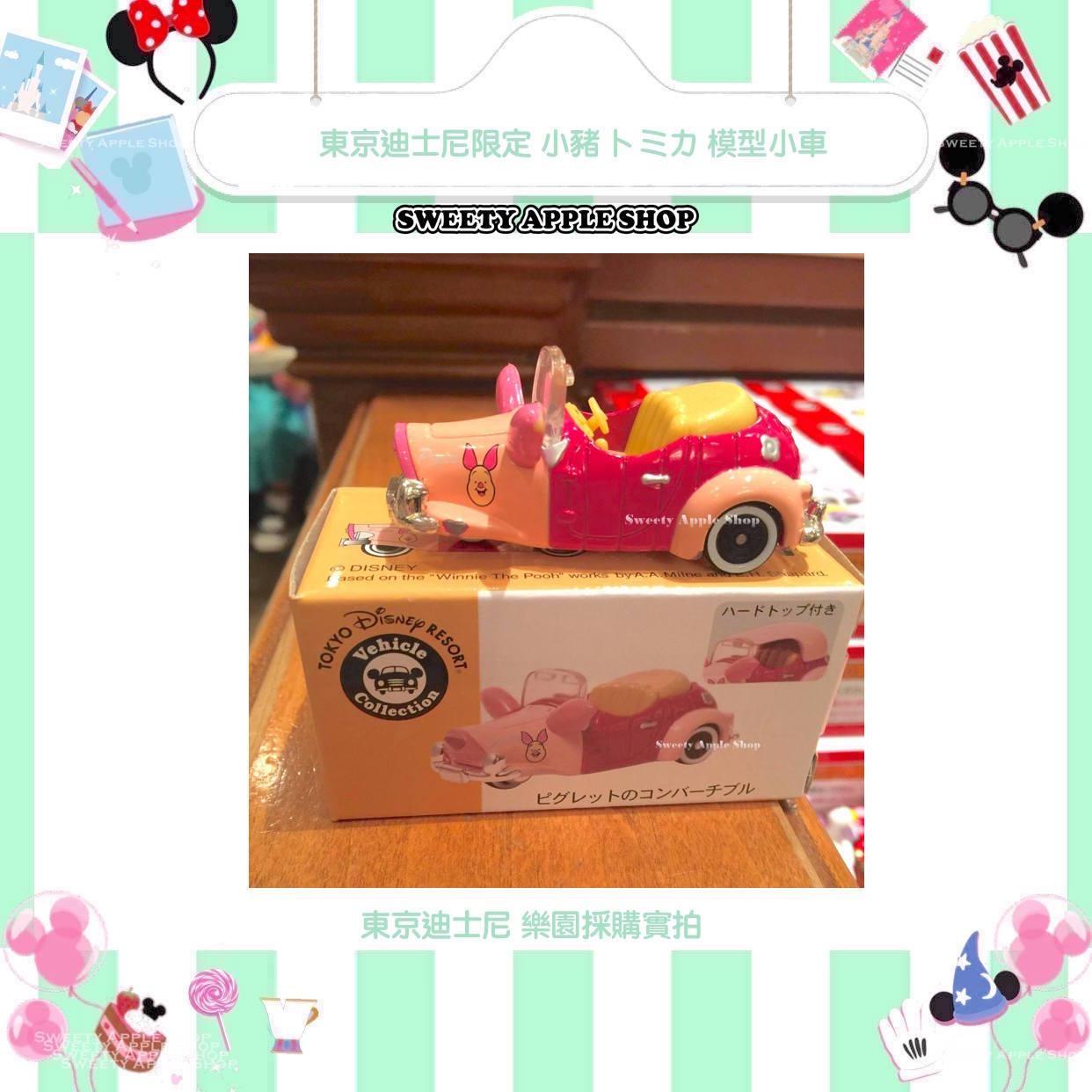 現貨樂園實拍圖東京迪士尼限定維尼家族小豬トミカtomica模型小車
