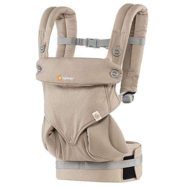買就送止汗巾美國ergobaby四式360嬰兒揹帶背巾揹巾卡其月光石~總代理公司貨