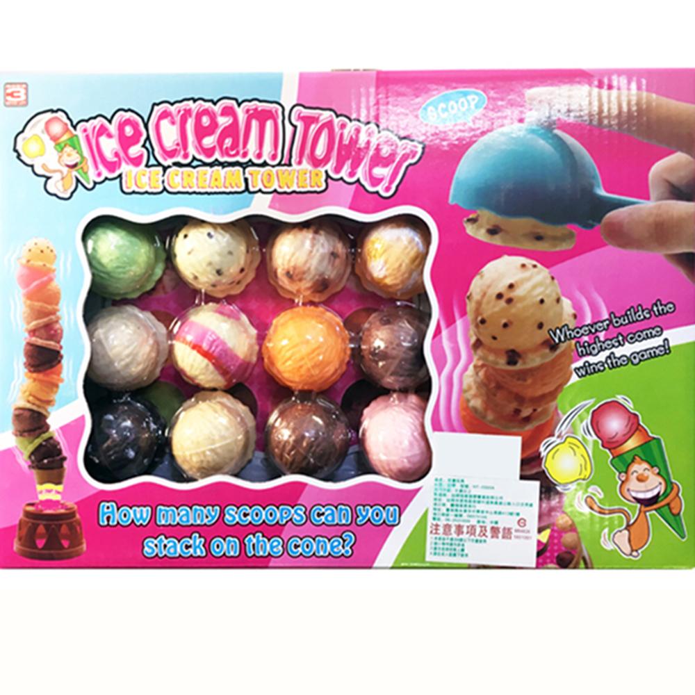 【GCT玩具嚴選】疊疊樂冰淇淋禮盒 冰淇淋平衡塔 桌遊 舒壓遊戲 平衡遊戲 下午茶家家酒